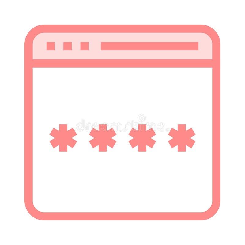 Strona internetowa kodu koloru linii ikona royalty ilustracja
