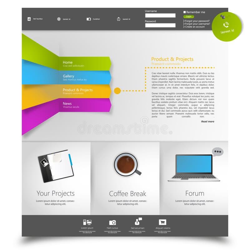 Strona internetowa korporacyjny szablon Kreatywnie sieci środków Wielofunkcyjny projekt Mobilny interfejs ilustracji