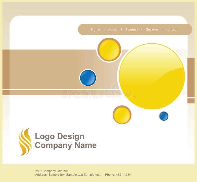 strona internetowa logo projektu royalty ilustracja