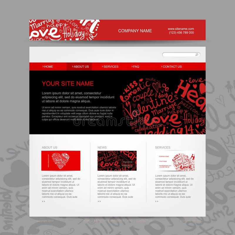 Strona internetowa projekta szablon dla datować miejsce ilustracji