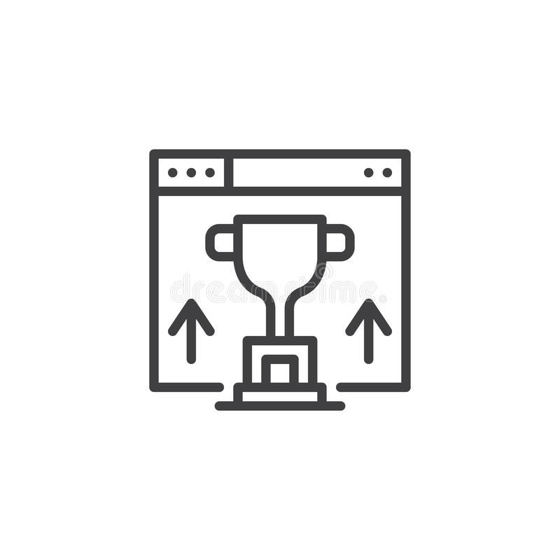 Strona internetowa rankingu konturu ikona royalty ilustracja