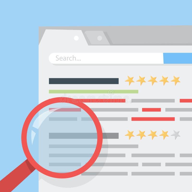 Strona internetowa rankingu pojęcie Ocenia stronę internetową i ulepsza ilustracji
