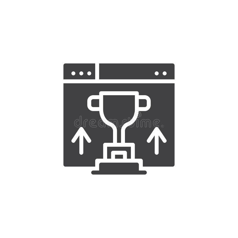 Strona internetowa rankingu wektoru ikona ilustracji