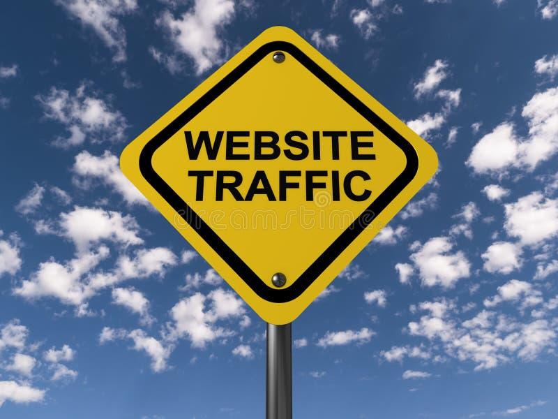 Strona internetowa ruch drogowy royalty ilustracja