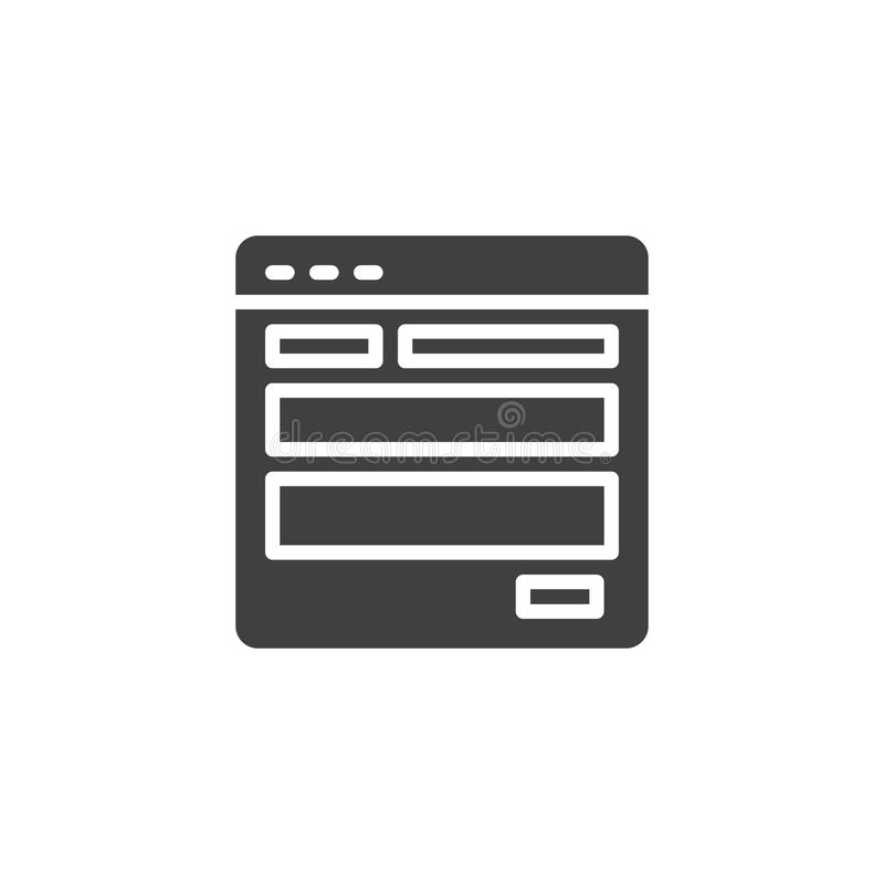 Strona internetowa szablonu wektoru ikona ilustracja wektor