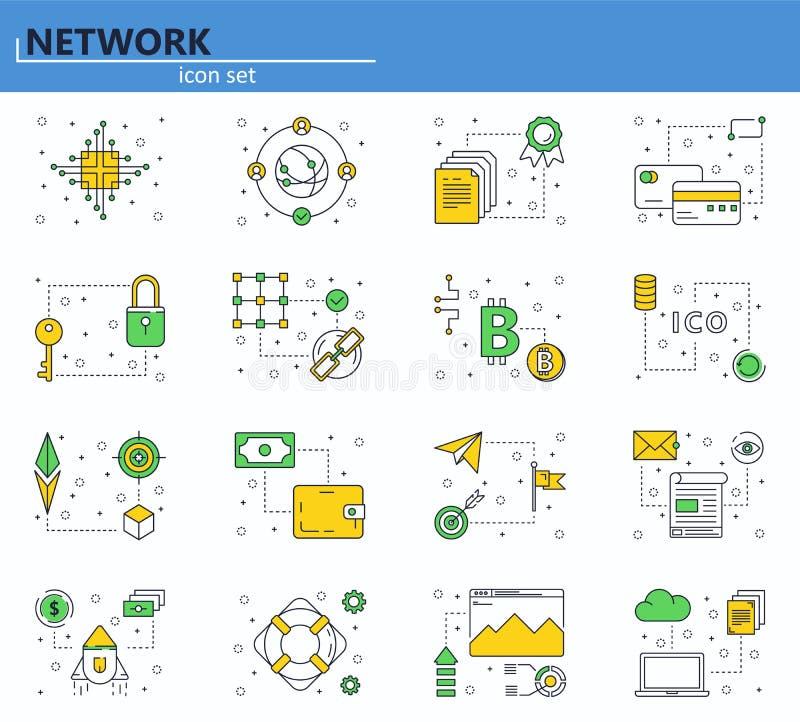 Strona internetowa UI i ilustracja wektor