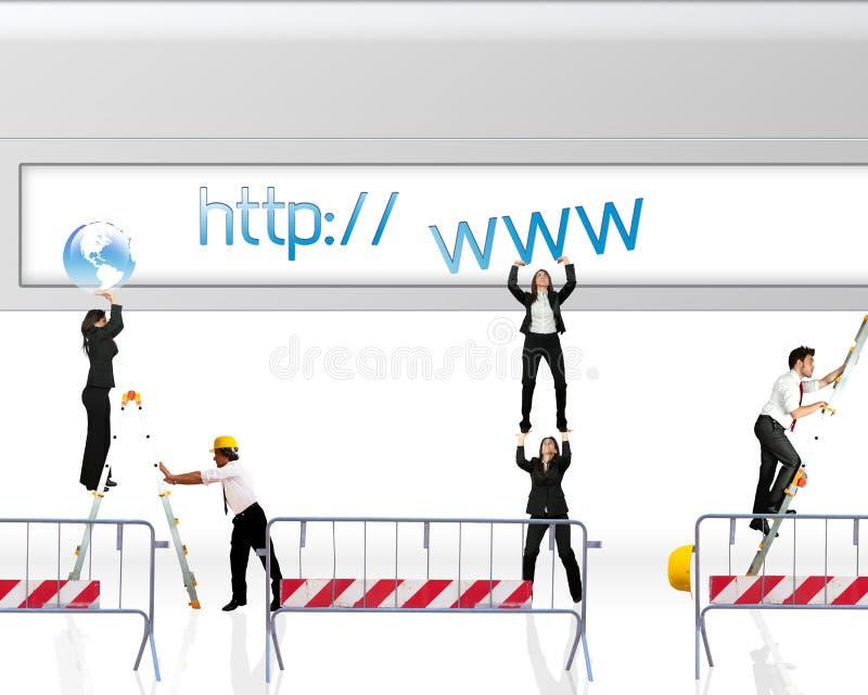 Strona internetowa w budowie royalty ilustracja
