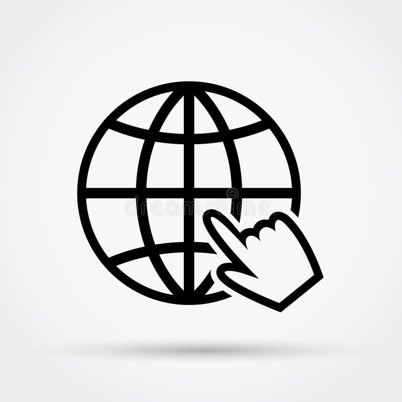 Strona internetowa wektoru ikona Płaski projekt royalty ilustracja