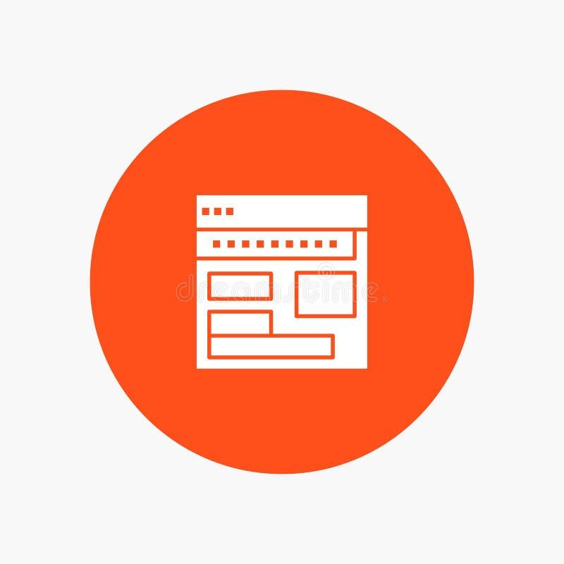 Strona internetowa, wyszukiwarka, biznes, Korporacyjny, strona, sieć, Webpage royalty ilustracja