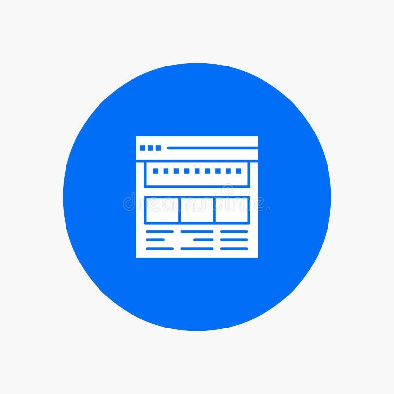 Strona internetowa, wyszukiwarka, biznes, Korporacyjny, strona, sieć, Webpage ilustracji