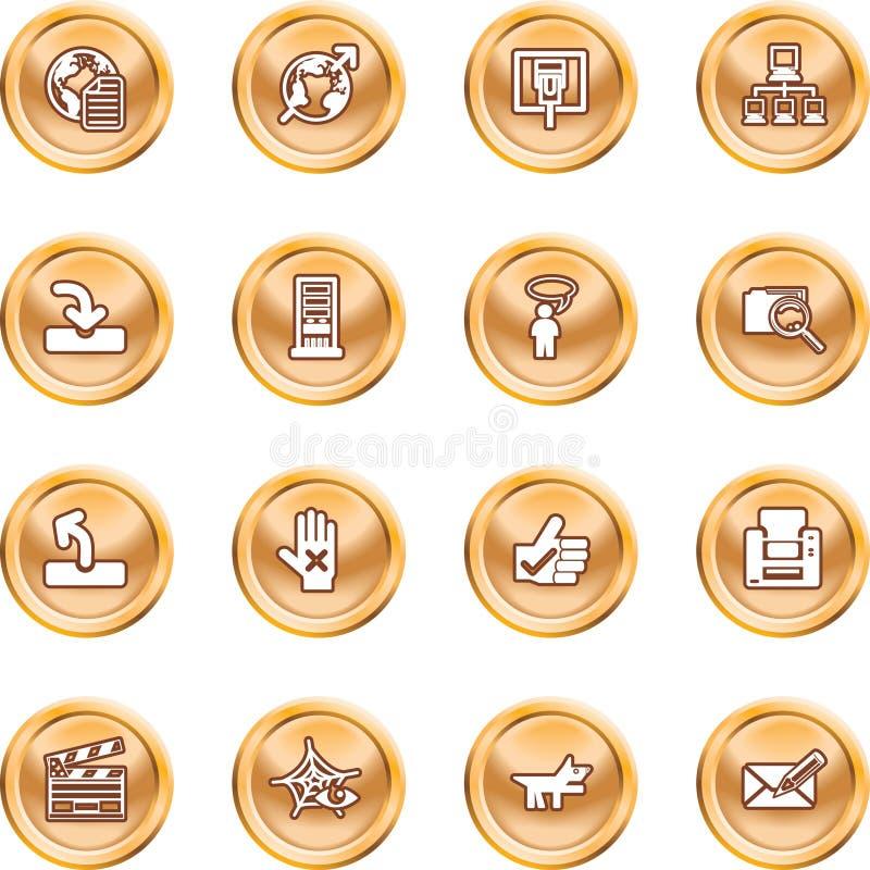 strona internetowy ikony ilustracja wektor