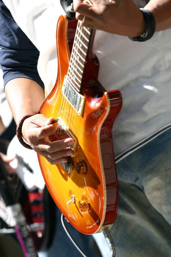 strona na gitarze zdjęcia stock
