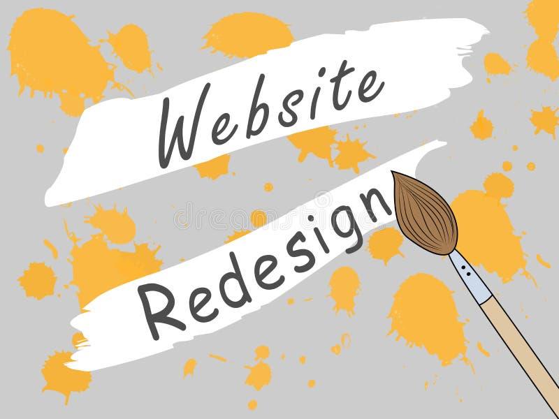 Strona projekta miejsce zamykający dla przekonstruowania Zmieniać projekt miejsce Praca na rozwijać miejsce ilustracja wektor