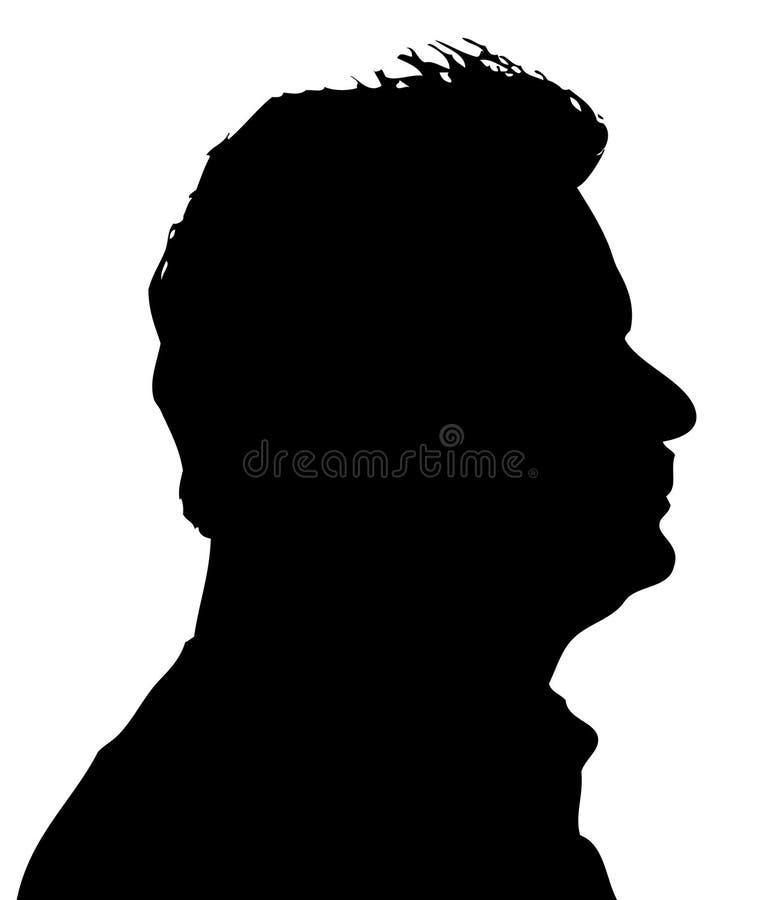 strona twarzy ilustracja wektor