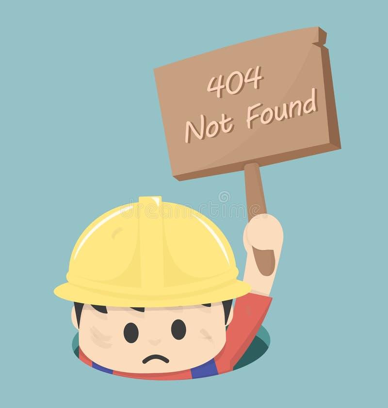 Strona znajdujący 404 błąd ilustracji