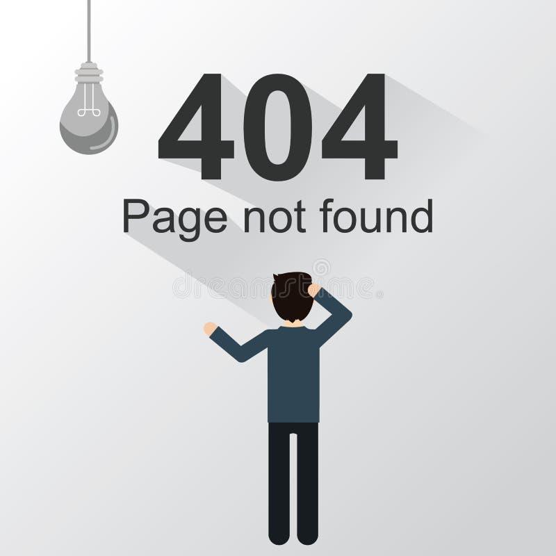 Strona znajdujący błąd 404 ilustracja wektor