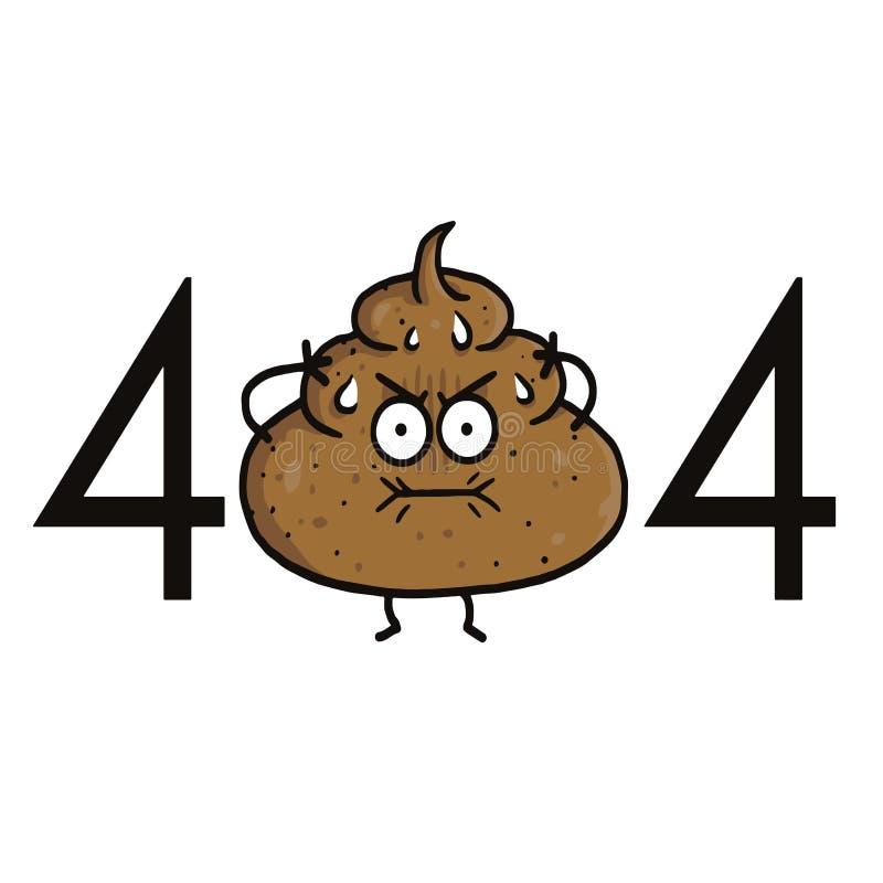 Strona znajdujący błąd 404 Kaku kreskówka dla strona internetowa projektów royalty ilustracja