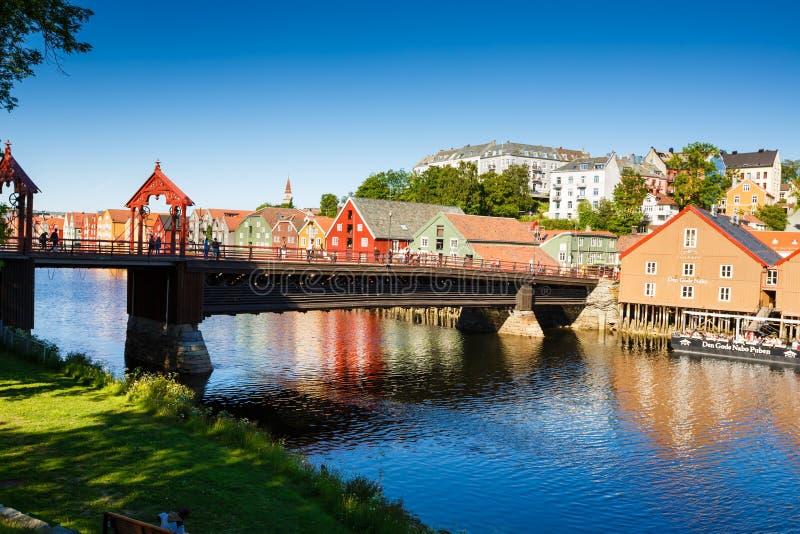 Strondheim en Noruega imagen de archivo libre de regalías