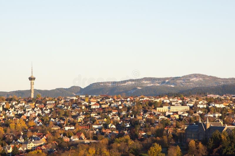Strondheim en Noruega en otoño imágenes de archivo libres de regalías
