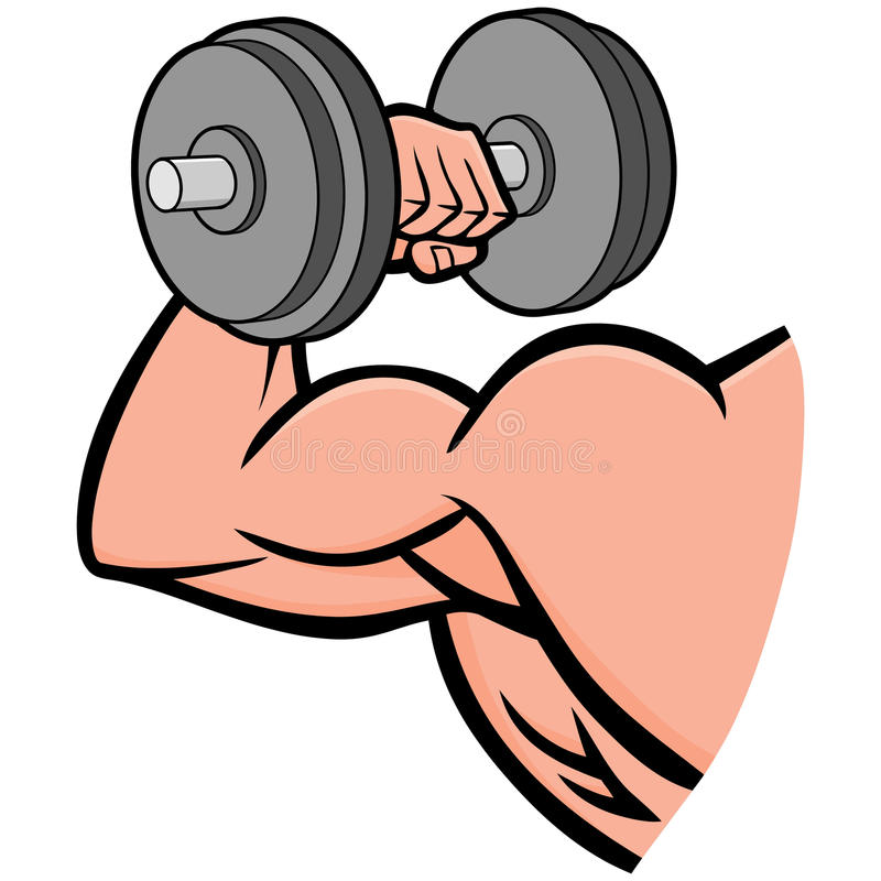 Strong Arm stock vector. Illustration of build, hand - 53675119