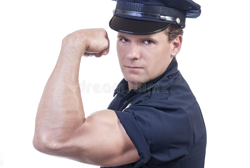 Strong arm of the law stock photos