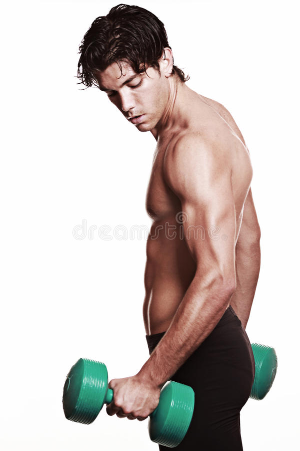 Strong arm lifting a weight royalty free stock images