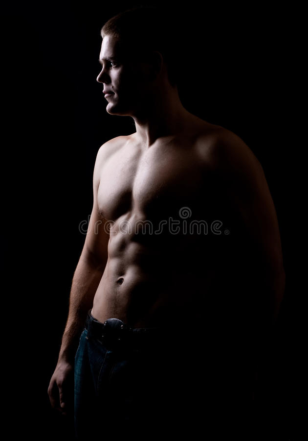 Strong Athletic Man Stock Photography
