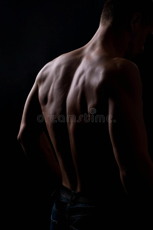 Strong athletic man stock photo