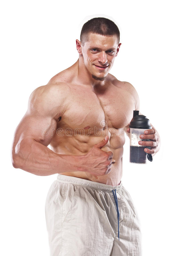 Download Strong athletic man stock photo. Image of athlete, white - 21466038