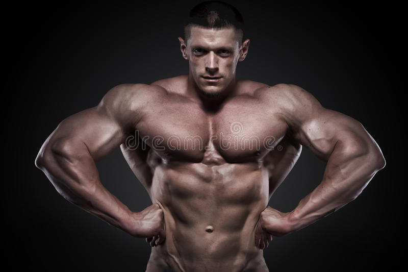 Download Strong athletic man stock image. Image of chest, muscle - 21466087