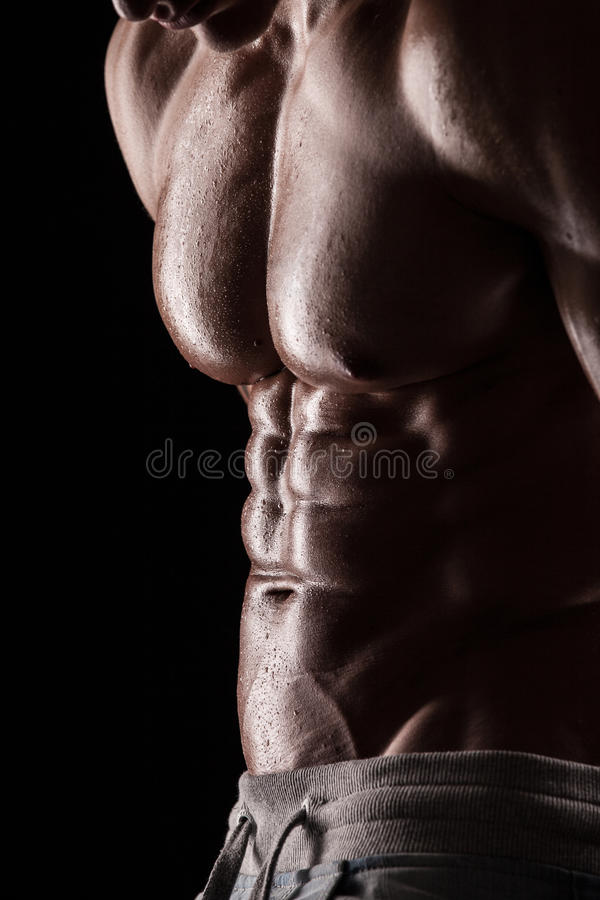 Download Strong Athletic Man Fitness Model Torso Showing Six Pack Abs. Stock Photo - Image: 39531540