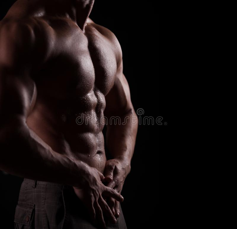Strong athletic man royalty free stock image