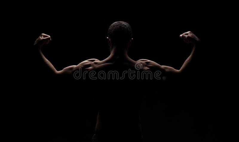 Download Strong athletic mans back stock photo. Image of body - 85727556