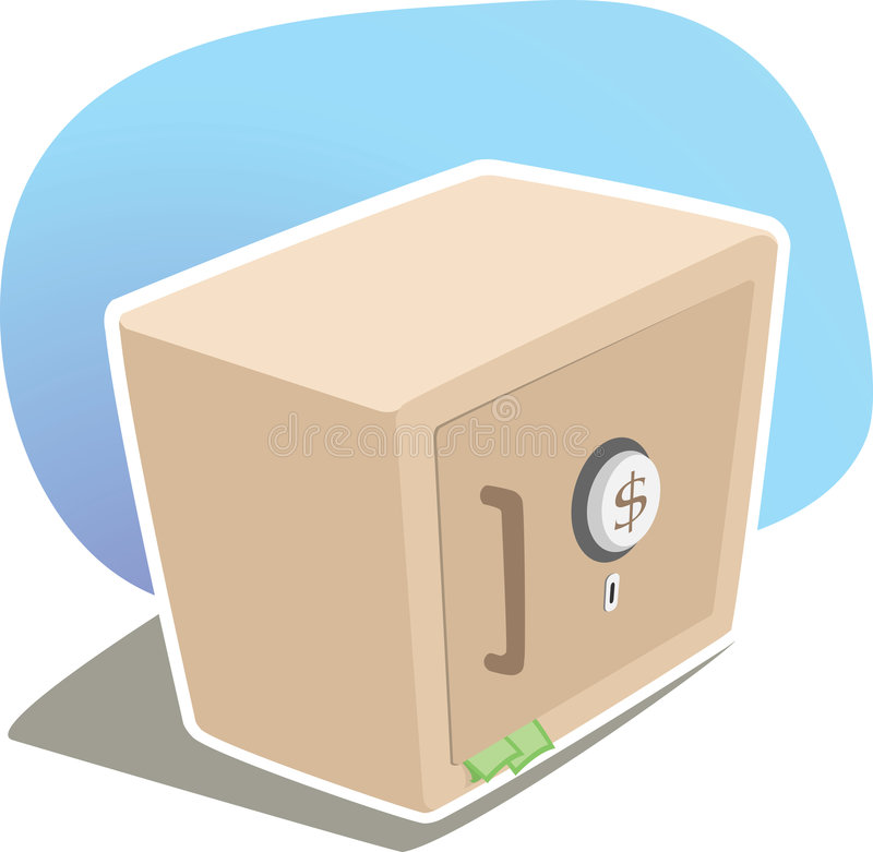 Strong Box. Illustration of dollar strong box vector illustration