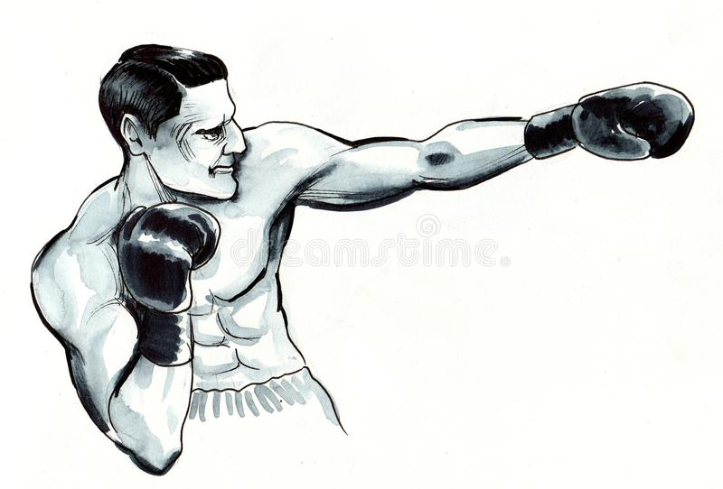 Strong boxer royalty free illustration