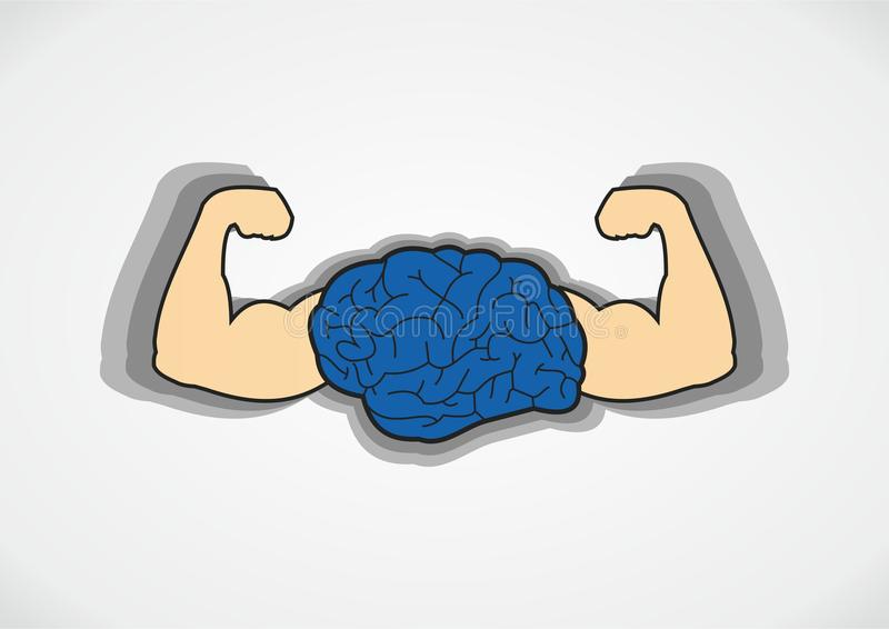 Strong Brain royalty free illustration