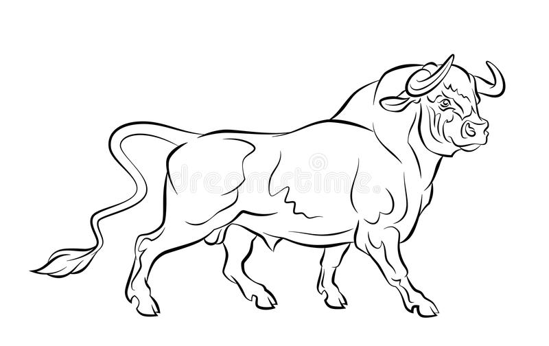 Strong bull royalty free illustration