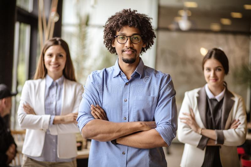 Strong business team. royalty free stock image