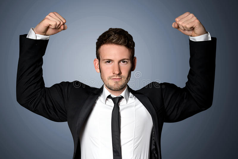 Strong Businessman stock photo