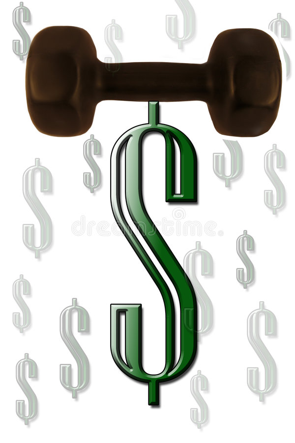 Strong dollar. Strong money currency royalty free illustration
