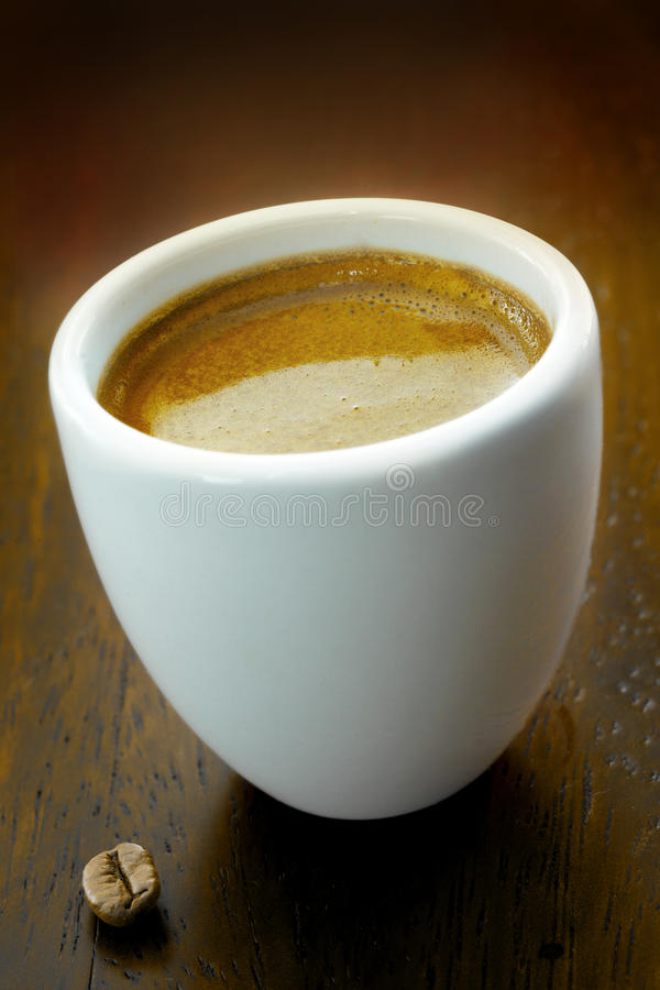Strong fresh espresso coffee stock photo