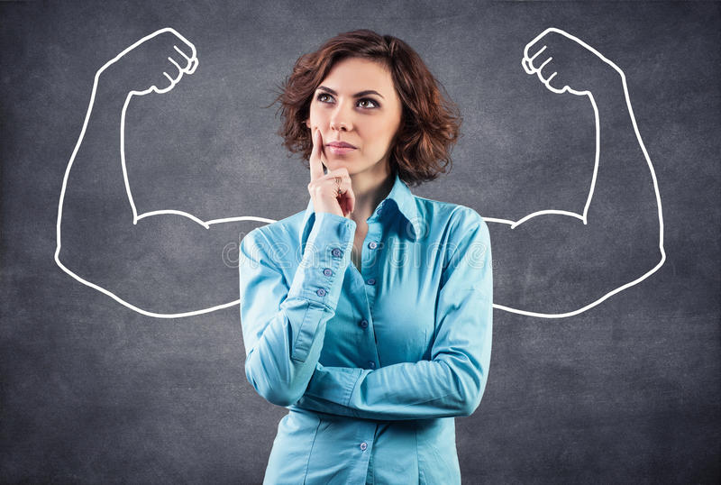 Strong girl stock photography