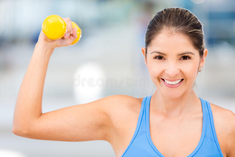 Download Strong gym woman stock image. Image of cheerful, muscular - 27682285