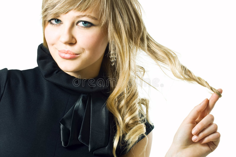 Strong hair stock photo