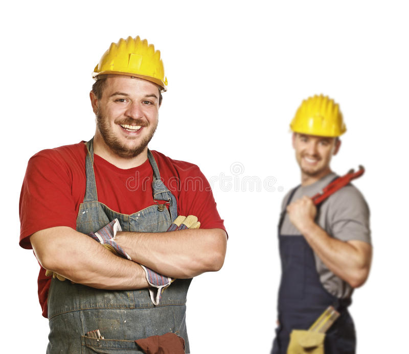Strong handyman background stock photos