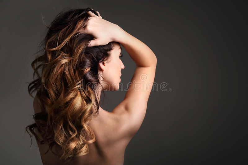 Strong healthy hair. stock photography