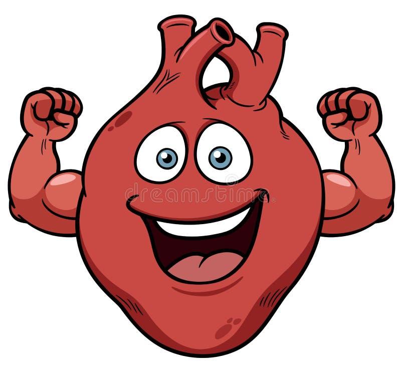 Strong heart cartoon