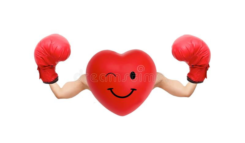 Strong heart fighter royalty free stock photos