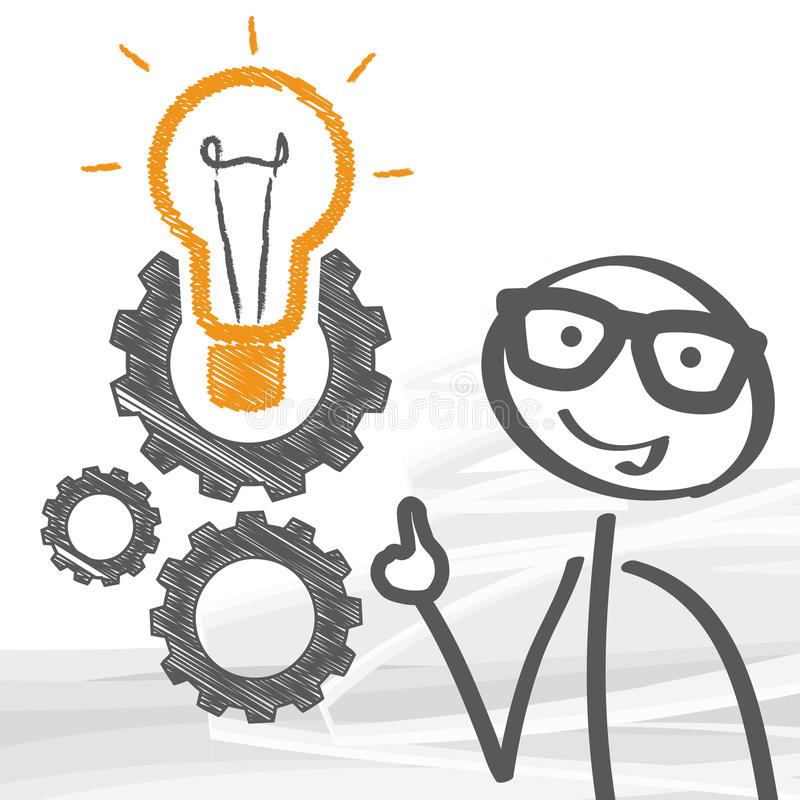 Strong ideas royalty free illustration