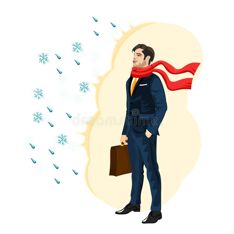 Strong immunity business man royalty free illustration
